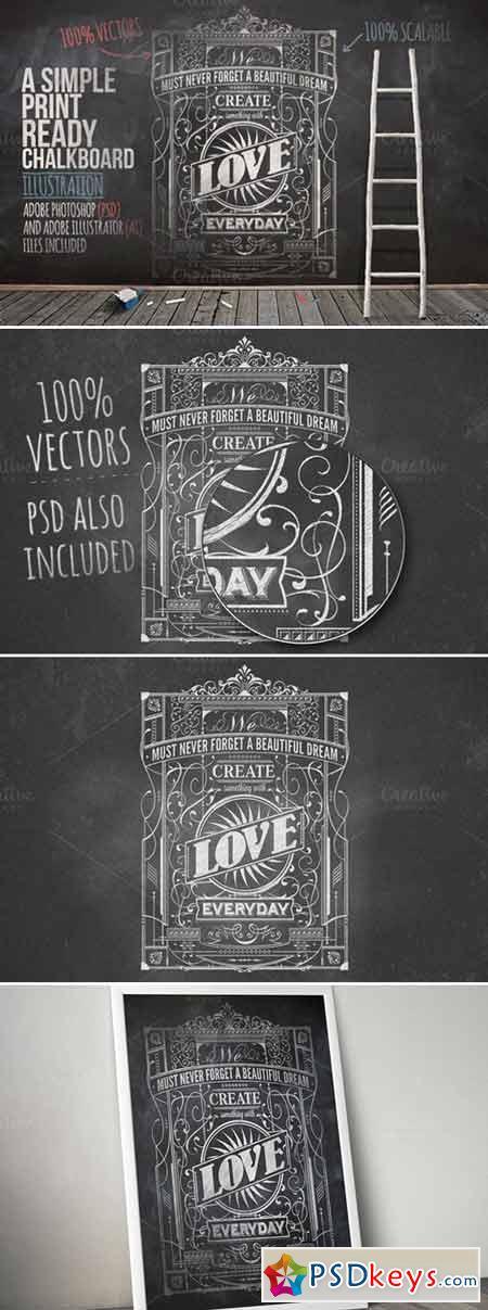 Typography Chalkboard Print 3 424989