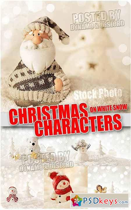 Chrismas characters on snow - UHQ Stock Photo