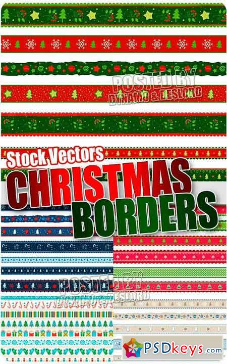 Christmas borders - Stock Vectors