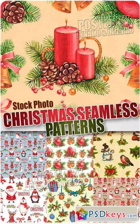 Christmas seamles patterns - UHQ Stock Photo