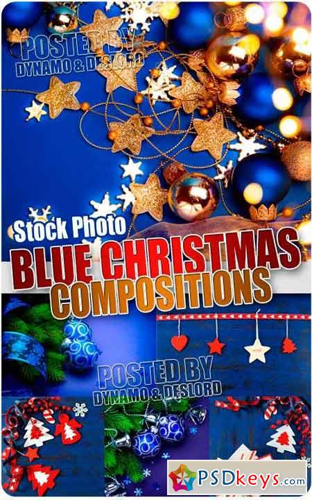 Blue Xmas Compositions - UHQ Stock Photo