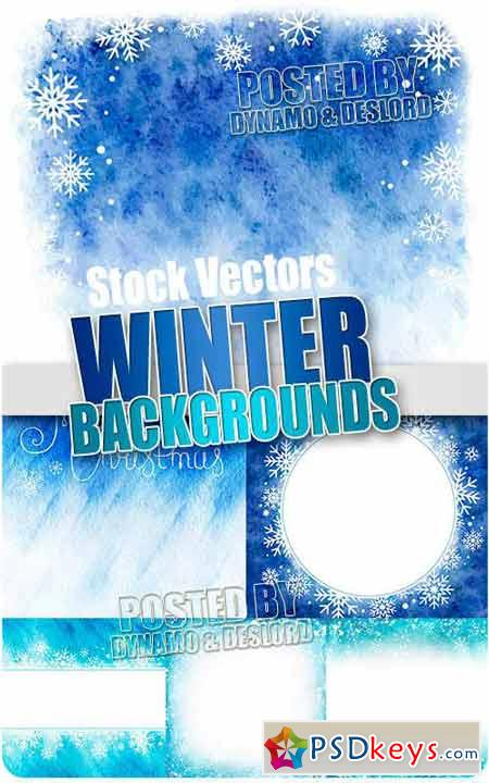 Winter backgrounds - Stock Vectors