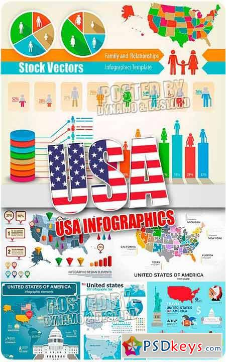 Usa infographic - Stock Vectors
