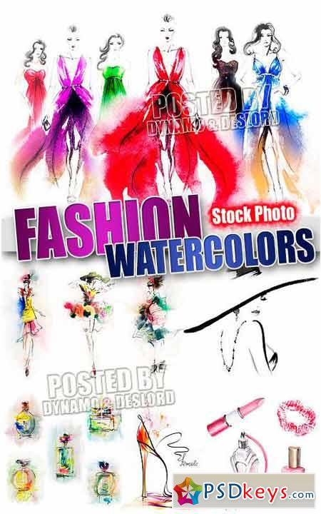 Fashion watercolors - UHQ Stock Photo