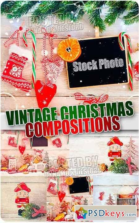 Vintage Christmas Compositions - UHQ Stock Photo
