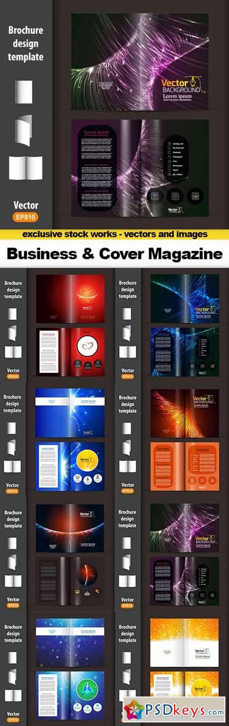 Business Design Background & Cover Magazine - 8x EPS
