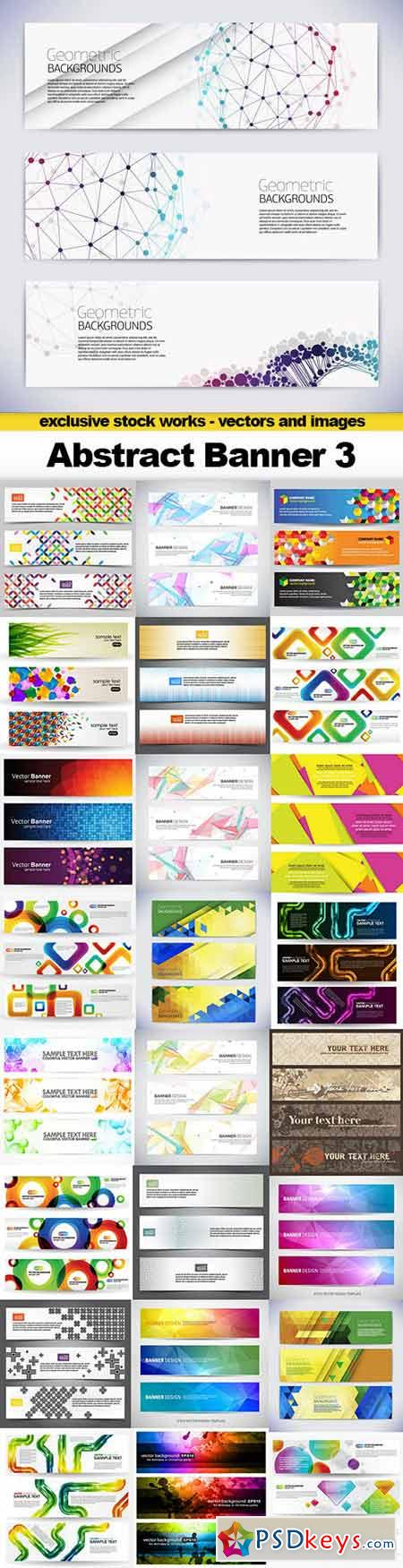 Abstract Banner Vector Collection 3 - 25x EPS