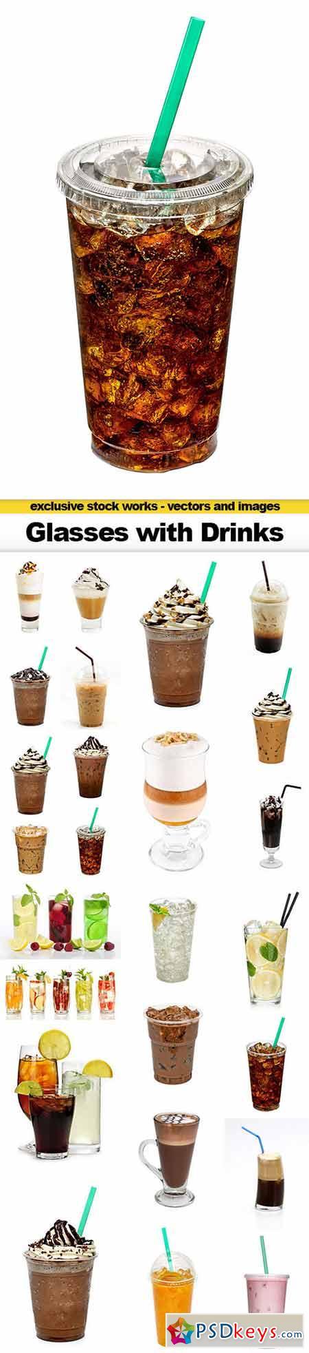 Glasses with Drinks, 25x UHQ JPEG