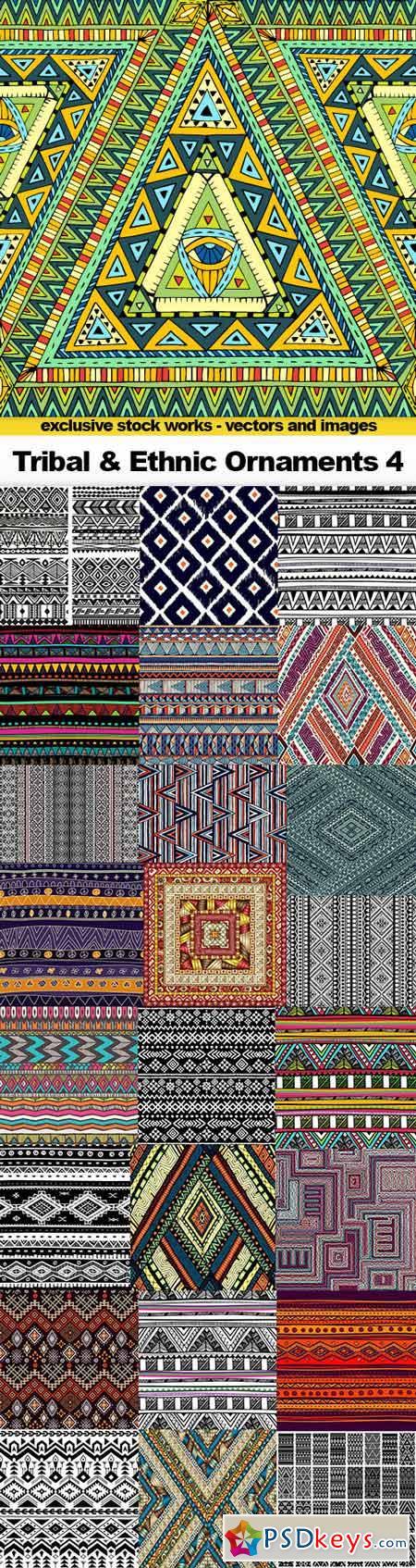Tribal & Ethnic Ornaments 4 - 25x EPS