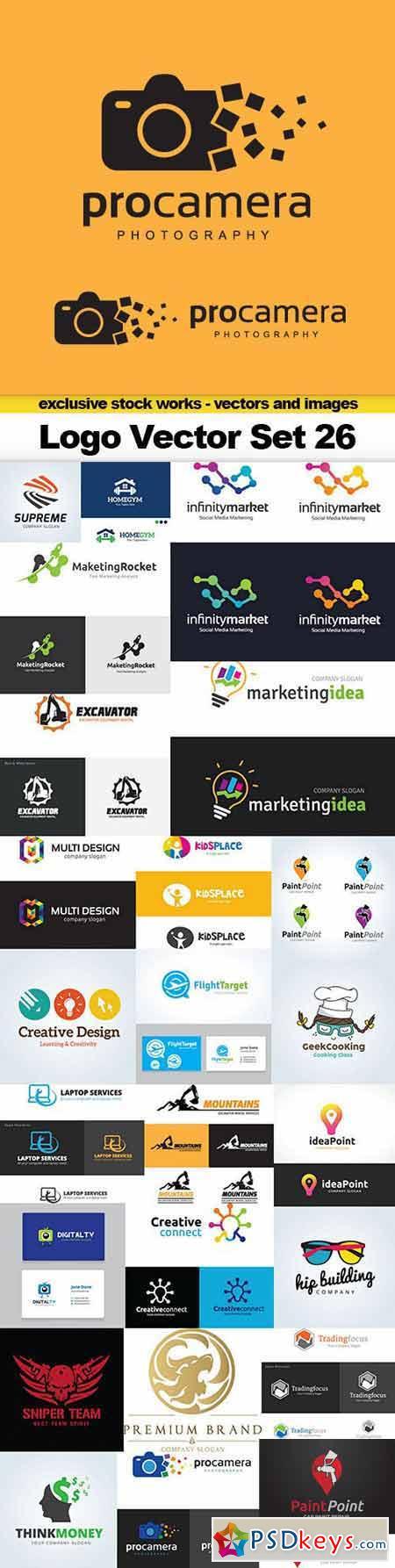 Logo Vector Set 26 - 25x EPS