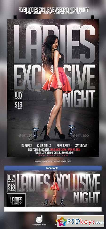 Flyer Ladies Exclusive Weekend Night Party 11759087