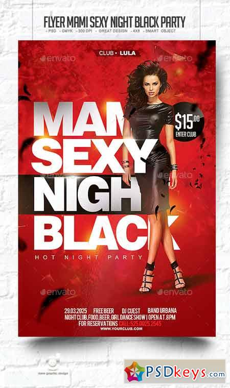 Flyer Mami Sexy Night Black Party 10202325