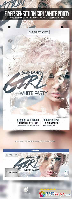 Flyer Sensation Girl White Party 12703322