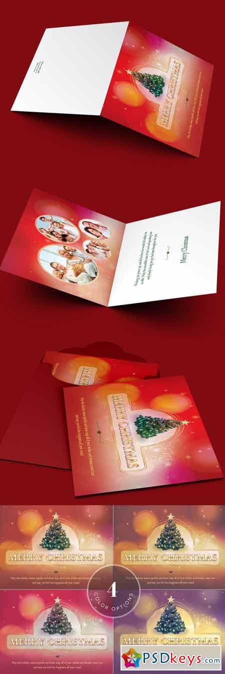 Christmas Greeting Card Template 423641