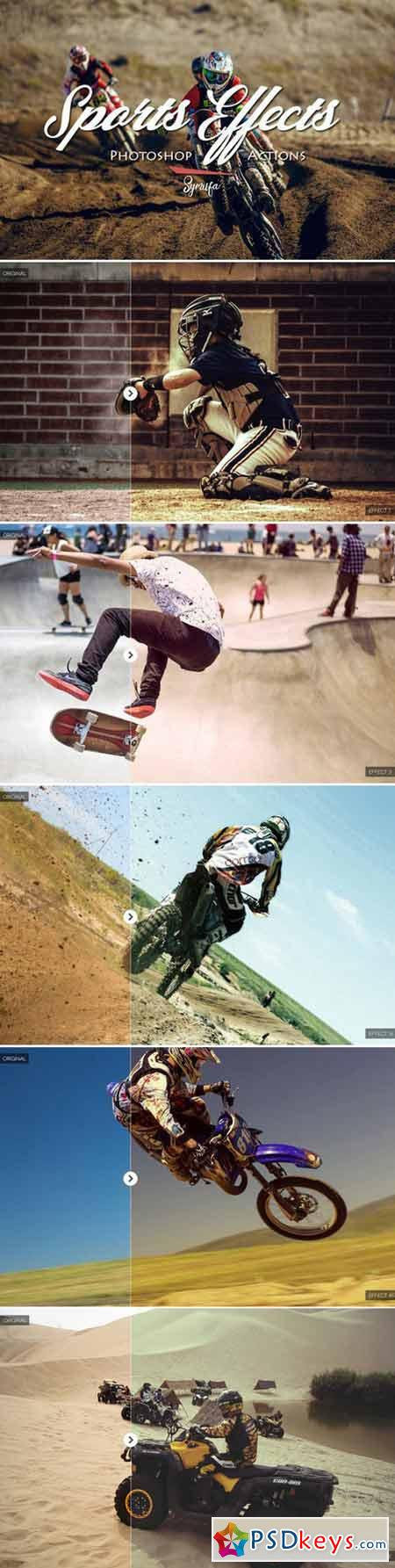 50 Sports Effect Photoshop Actions 419580
