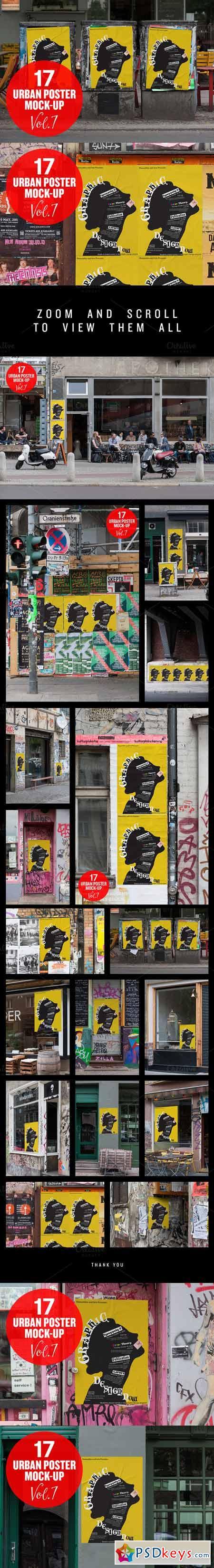 Urban Poster Mock-up VOL.7