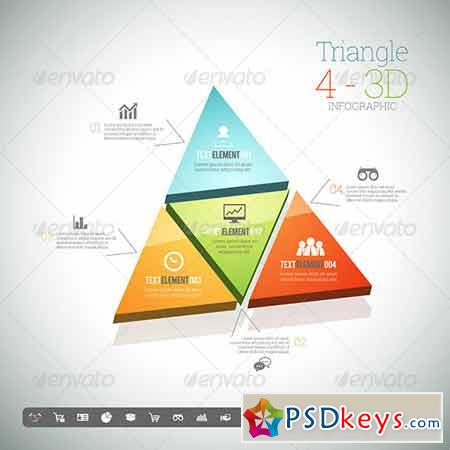 Triangle Four 3D Infographic 8398908