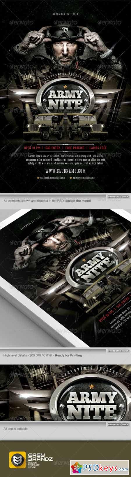 Army Nite Flyer Template 7476586