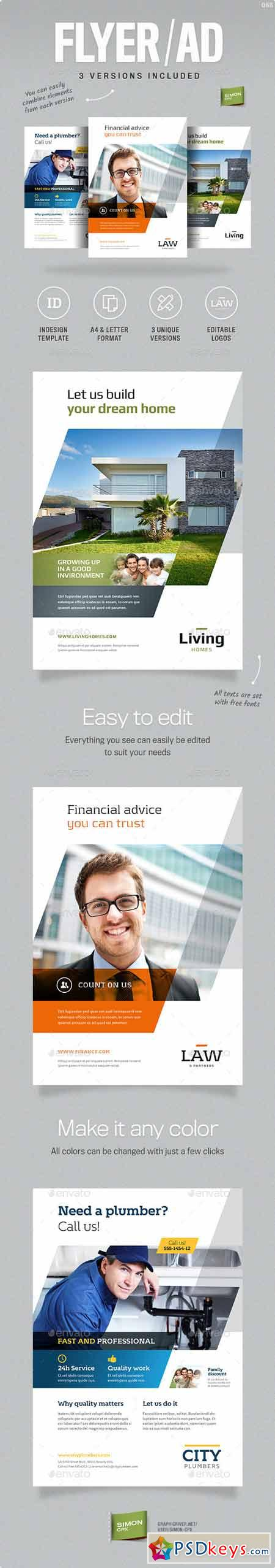 Business Flyer or Ad template 12068993