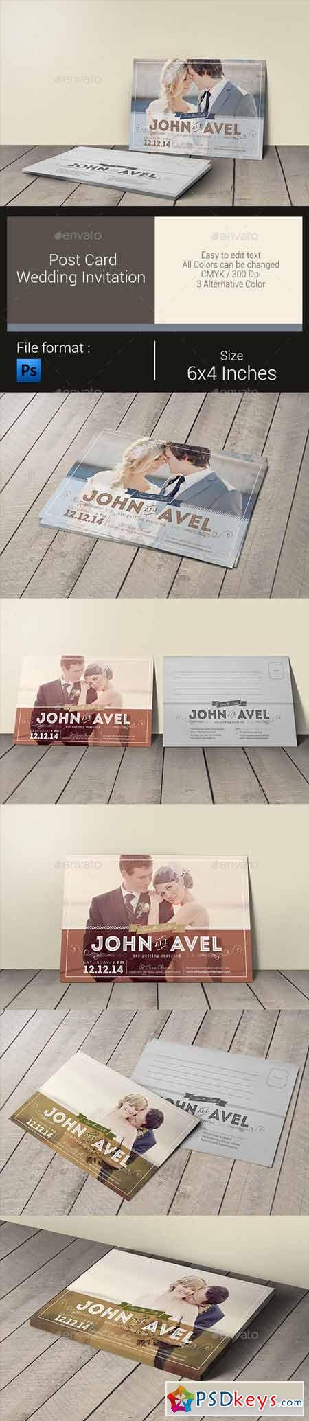 Post Card Wedding Invitation 10547726