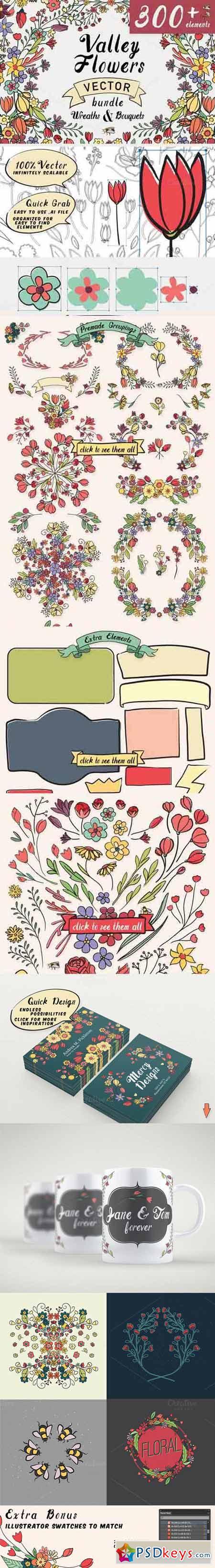 Valley Vector Floral Bundle 307462