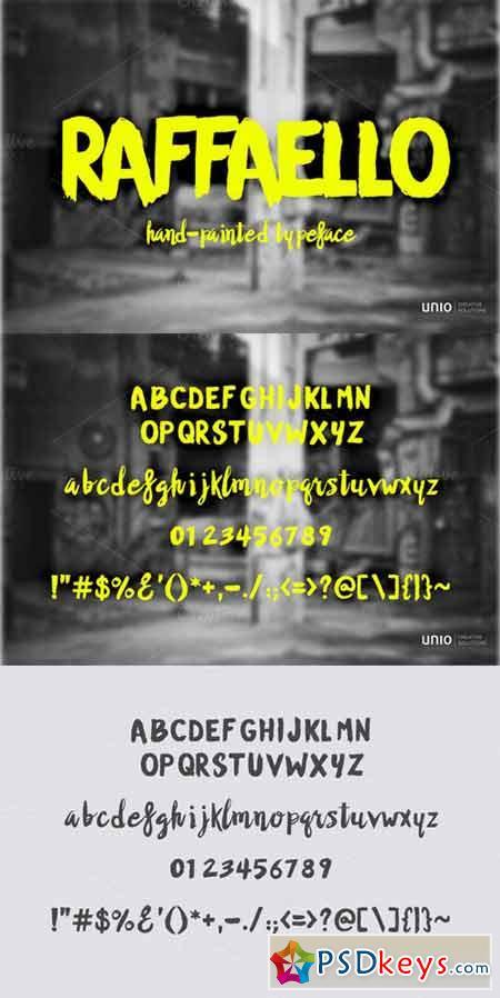 Raffaello Typeface 225796