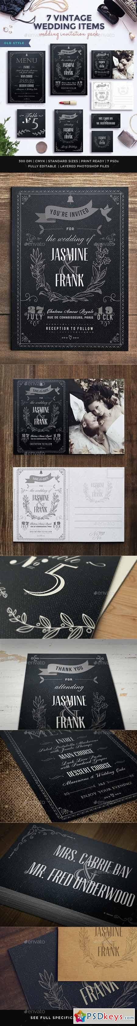 7 Vintage Items - Wedding Pack 10201277