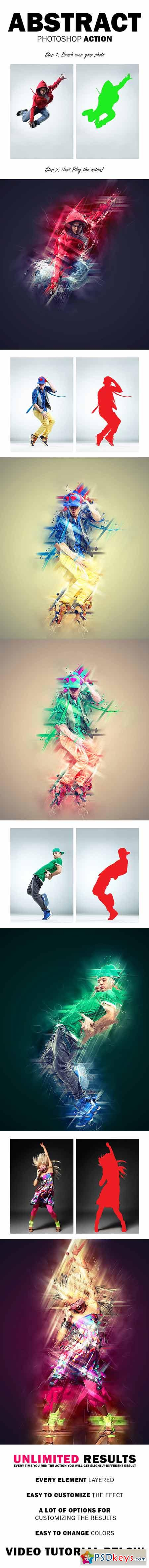 Abstract Photoshop Action 12688521
