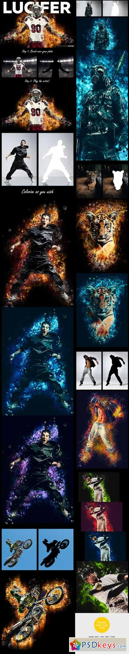 Lucifer Photoshop Action 12426731