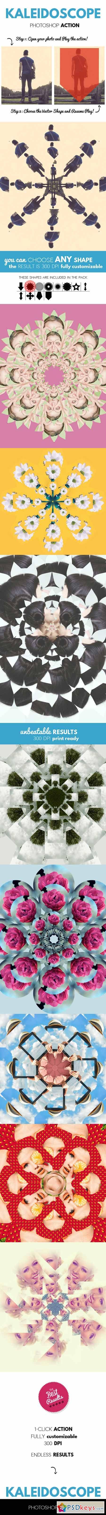 Kaleidoscope Abstract Effect Photoshop Action 12596921
