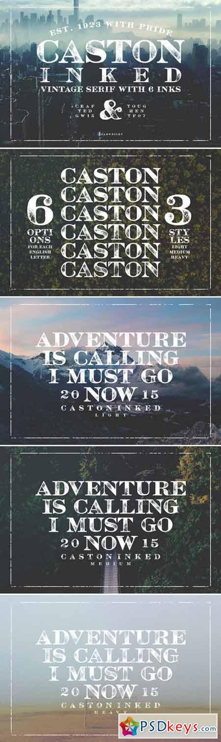 Caston Inked Display Fonts 426926