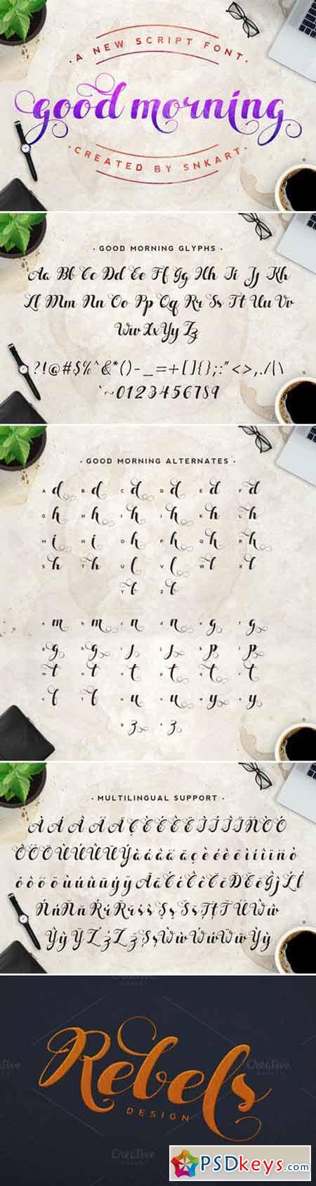 Good Morning Script Fonts 427527