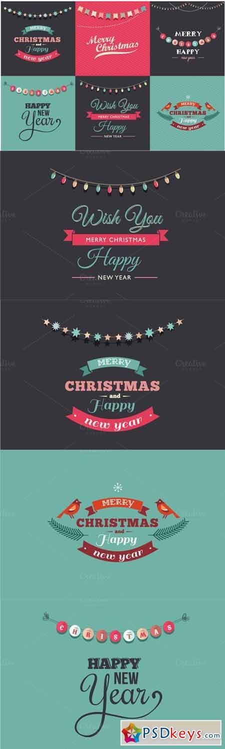 6 Vintage Christmas cards 90602