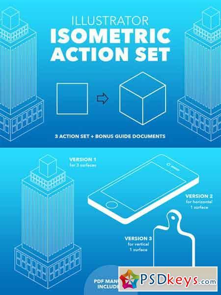 Illustrator Isometric Action Set 416610