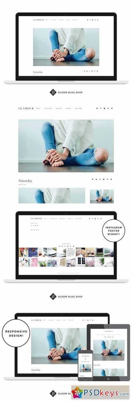 Responsive Minimal Wordpress Theme - Glamour 320863