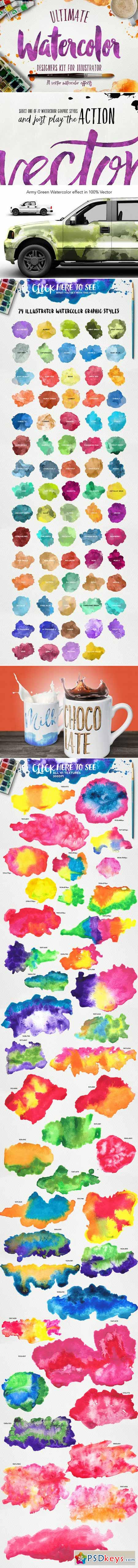Watercolor KIT for Illustrator 427120