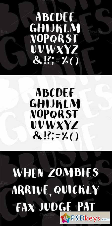 Brush Grotesque Font 431476