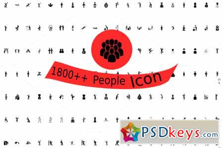 1800++ People Icons 409884