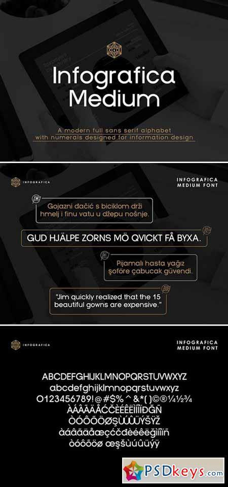 Infografica Medium Font 431483