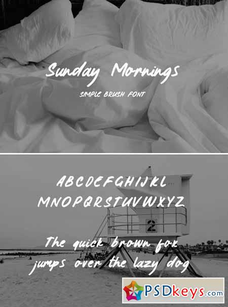 Sunday Morning Brush Typeface 431931