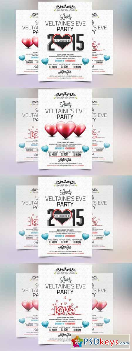 Valentines Eve 2015 Party Flyer 173367