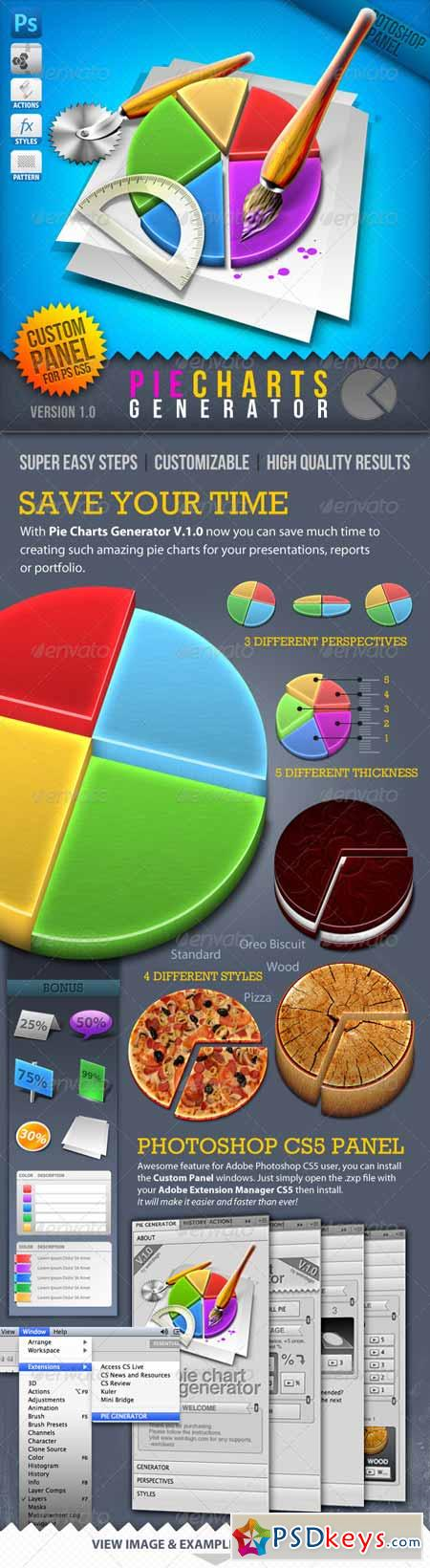 Infographic Tool Series 3D Pie Charts Generator 888921