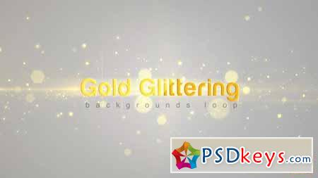 Gold Glittering - Motion Graphics