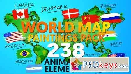 World map paintings pack after effects projects free download world map paintings pack after effects projects gumiabroncs Image collections