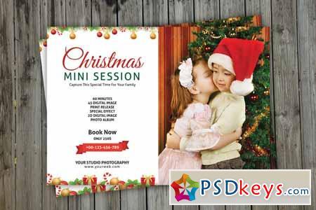 Christmas Mini Session Template V113