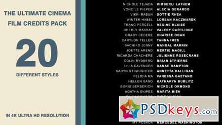 20 Cinema Film Credits Pack - After Effects Projects