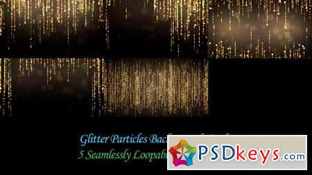 Glitter Particles Backgrounds Pack - Motion Graphics
