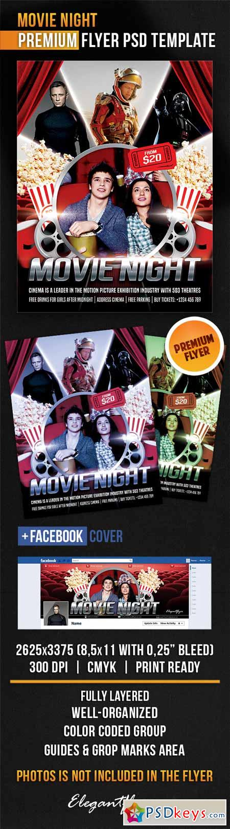 Movie Night Psd Template  Mydrlynx