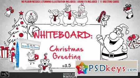 Holidays Whiteboard Greetings Pack - After Effects Projects