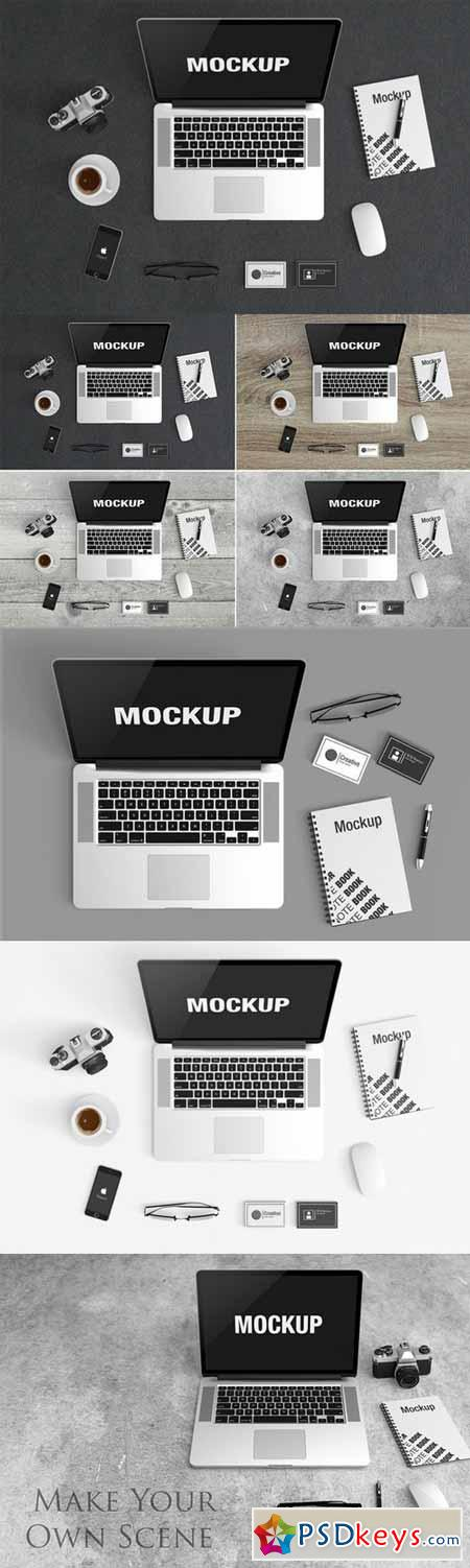 Macbook Scene Mockup 437469